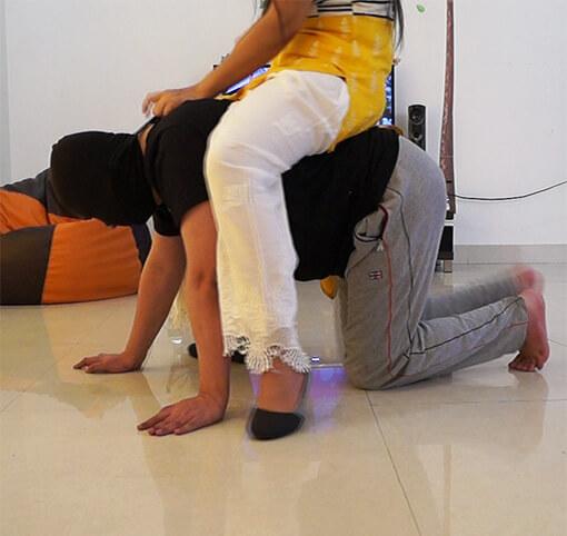 Indian Femdom Pony Slave – Saali Punishes Tharki Jiju 2